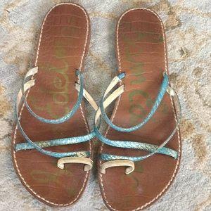 Sam Edelman Size 8 Strappy Blue Sandal